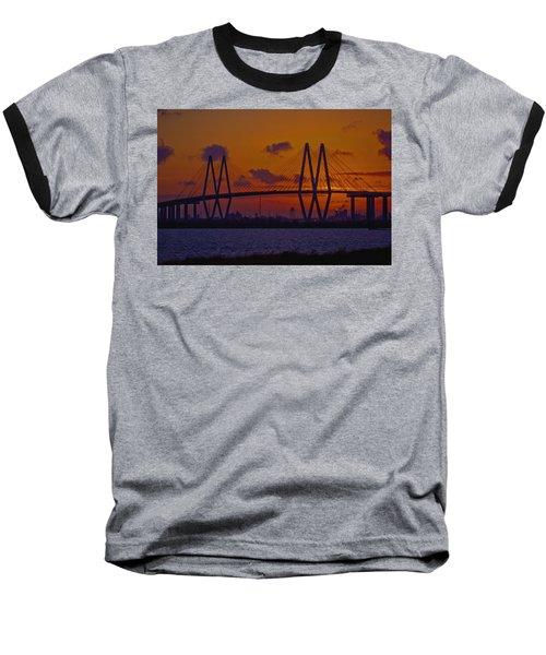 Sundown In Baytown Baseball T-Shirt