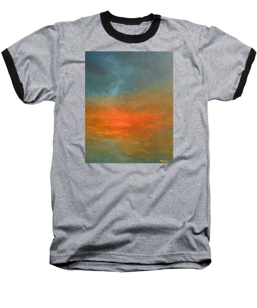 Baseball T-Shirt featuring the painting Sundown by Jane See