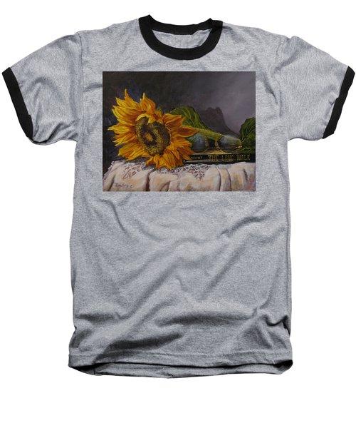 Sunflower And Book Baseball T-Shirt
