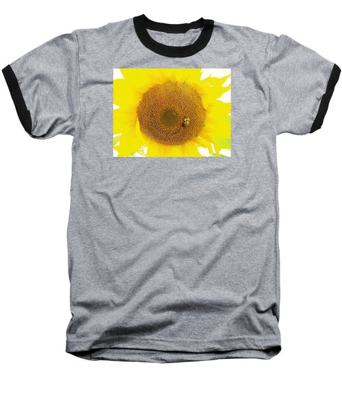 Sunflower And The Happy Bee Baseball T-Shirt