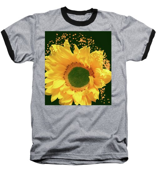 Sunflower Art Baseball T-Shirt