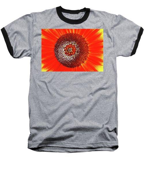 Sunflower Close Baseball T-Shirt