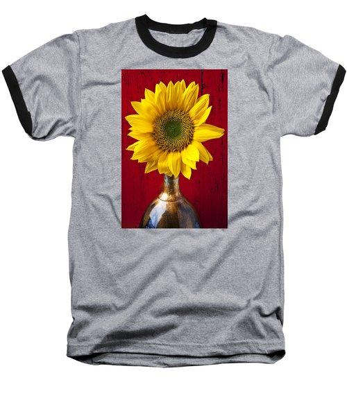 Sunflower Close Up Baseball T-Shirt