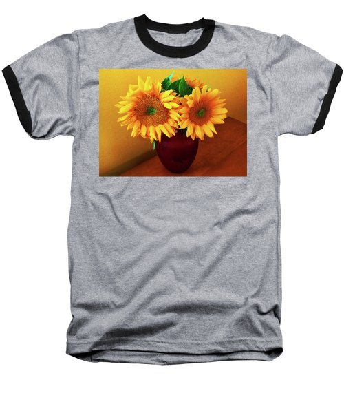 Sunflower Corner Baseball T-Shirt