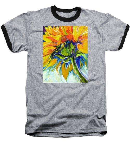 Sunflower Day Baseball T-Shirt by Marcia Baldwin