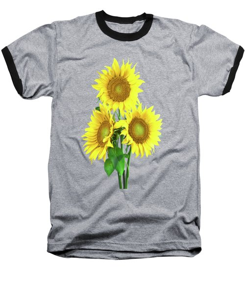 Sunflower Dreaming Baseball T-Shirt