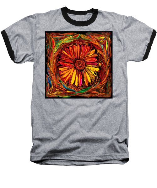 Sunflower Emblem Baseball T-Shirt