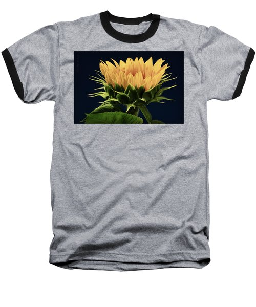 Baseball T-Shirt featuring the photograph Sunflower Foliage And Petals by Chris Berry