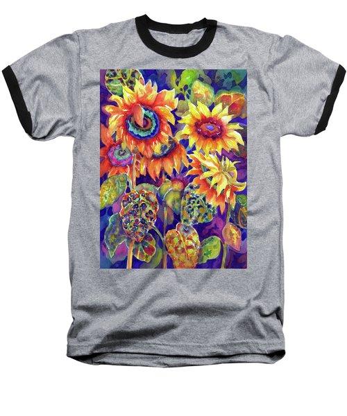 Sunflower Garden I Baseball T-Shirt