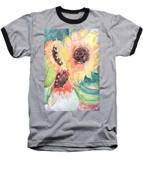 Sunflower Glory Baseball T-Shirt