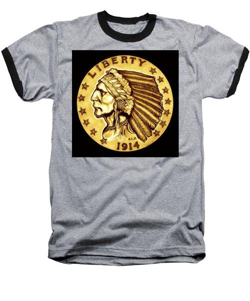 Sunflower Gold Quarter Eagle Baseball T-Shirt