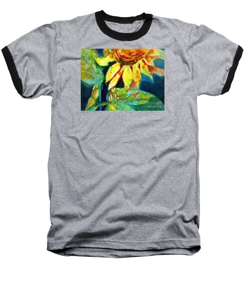 Sunflower Head 4 Baseball T-Shirt by Kathy Braud