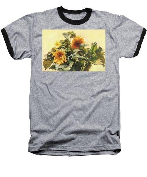 Sunflower In Love - Good Morning America Baseball T-Shirt