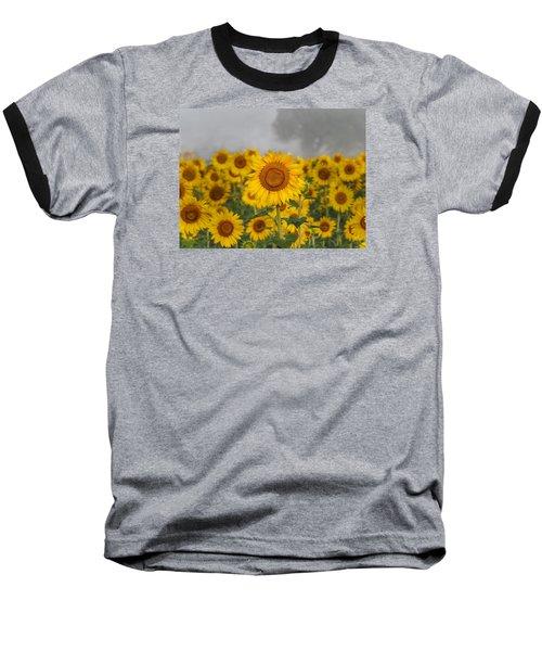 Sunflower In The Fog Baseball T-Shirt