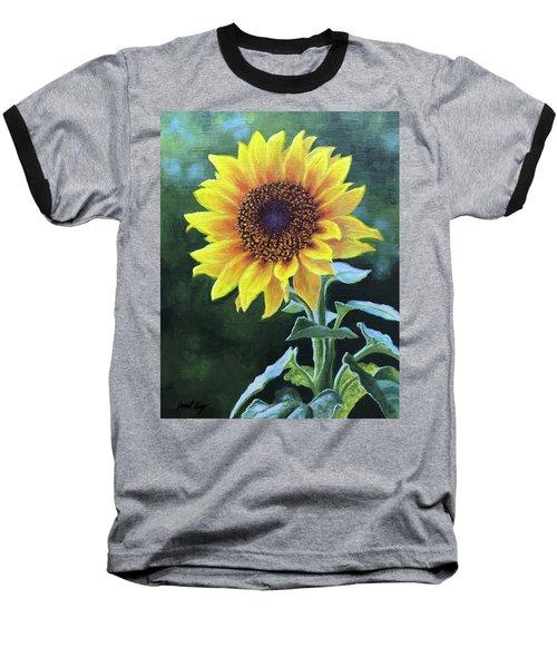 Sunflower Baseball T-Shirt by Janet King