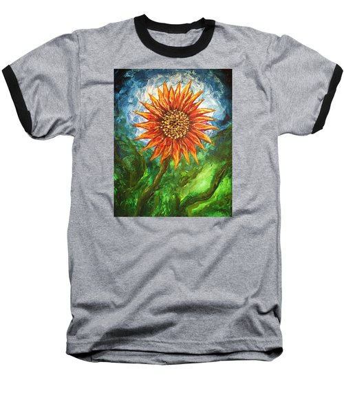 Sunflower Joy Baseball T-Shirt