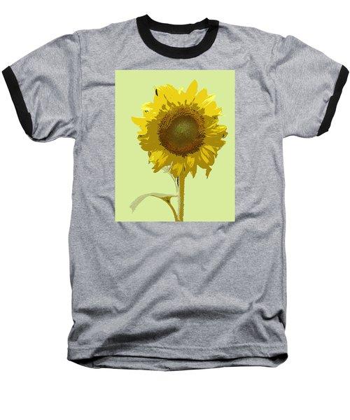 Sunflower Baseball T-Shirt by Karen Nicholson