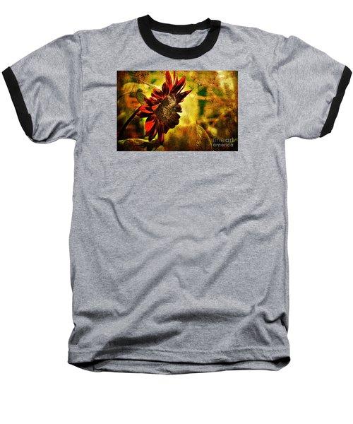 Sunflower Baseball T-Shirt by Lois Bryan