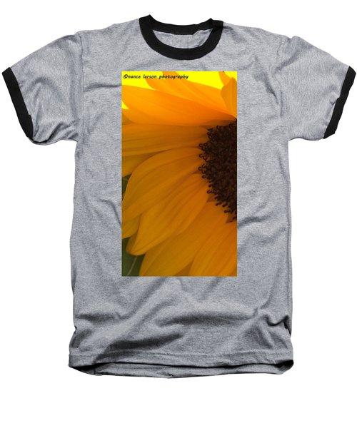 Sunflower Macro Baseball T-Shirt