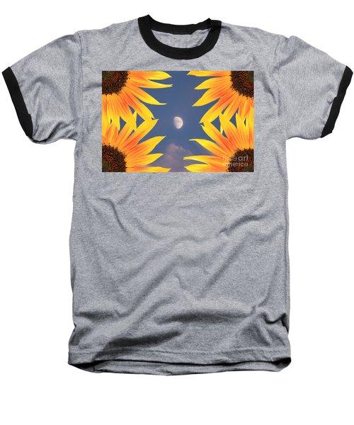 Sunflower Moon Baseball T-Shirt
