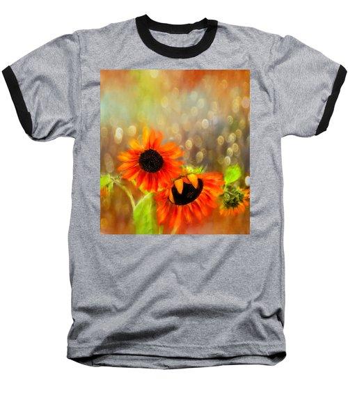 Sunflower Rain Baseball T-Shirt