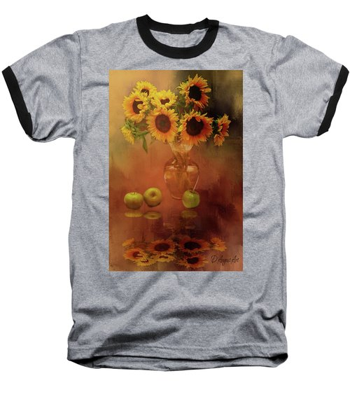 Sunflower Reflections Baseball T-Shirt