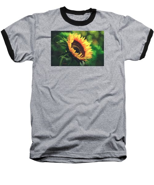 Baseball T-Shirt featuring the painting Sunflower by Rose-Maries Pictures