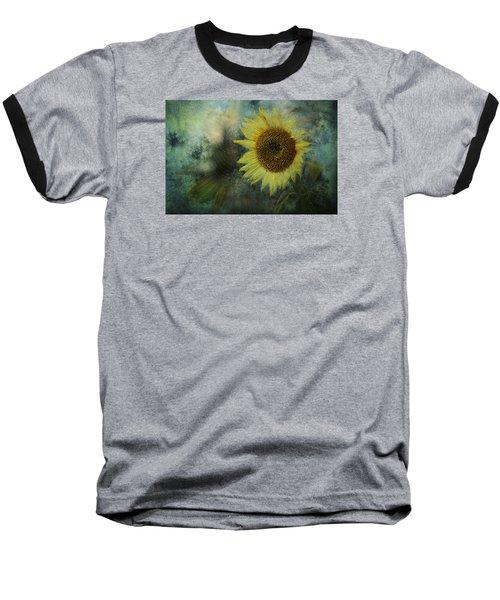 Sunflower Sea Baseball T-Shirt by Belinda Greb