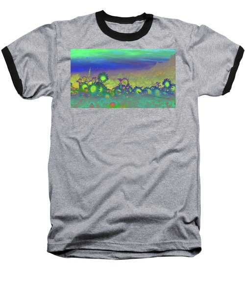 Sunflower Serenade Baseball T-Shirt by Mike Breau