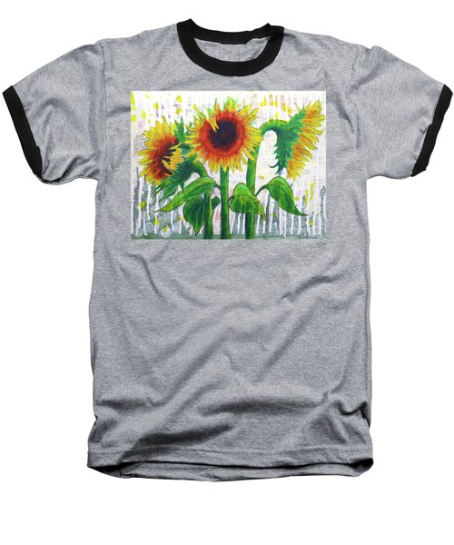 Sunflower Sonata Baseball T-Shirt