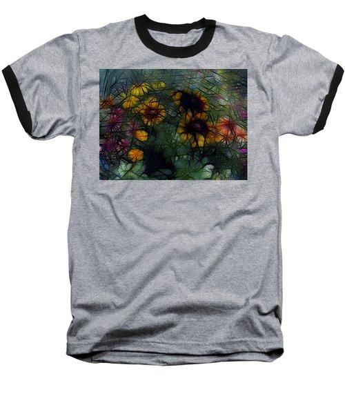 Sunflower Streaks Baseball T-Shirt by Carol Crisafi