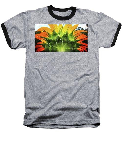 Sunflower Sunburst Baseball T-Shirt