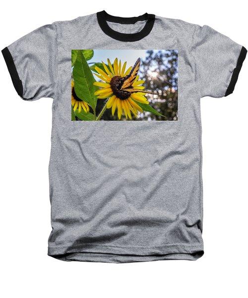 Sunflower Swallowtail Baseball T-Shirt