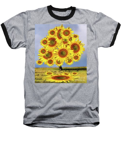 Sunflower Tree Baseball T-Shirt