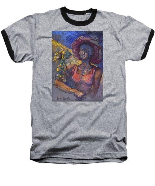 Sunflower Woman Baseball T-Shirt