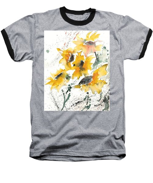 Baseball T-Shirt featuring the painting Sunflowers 10 by Ismeta Gruenwald