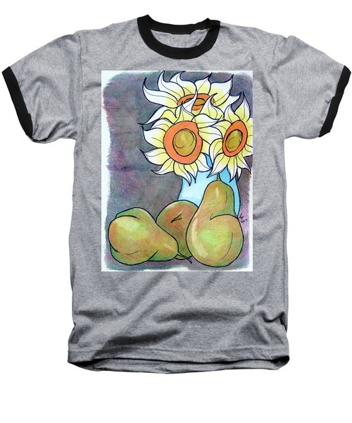 Sunflowers And Pears Baseball T-Shirt