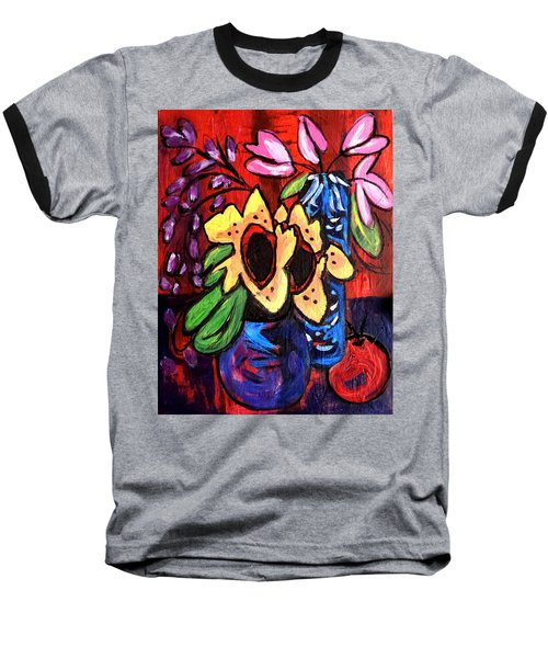 Sunflowers And Tulips Baseball T-Shirt