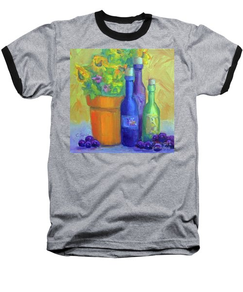 Sunflowers And Wine Baseball T-Shirt