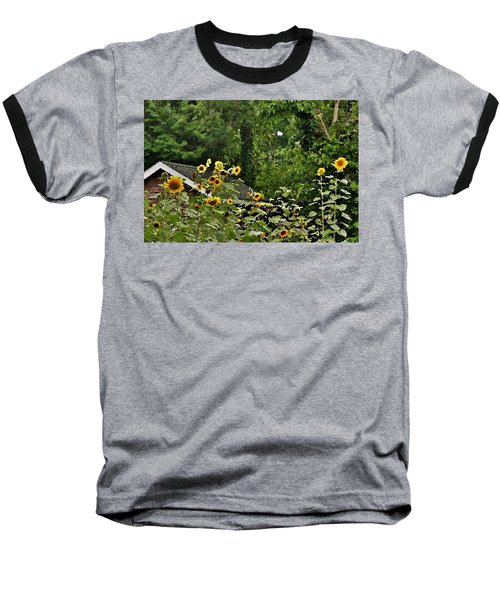 Sunflowers At The Good Earth Market Baseball T-Shirt