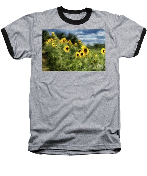 Sunflowers Bowing And Waving Baseball T-Shirt