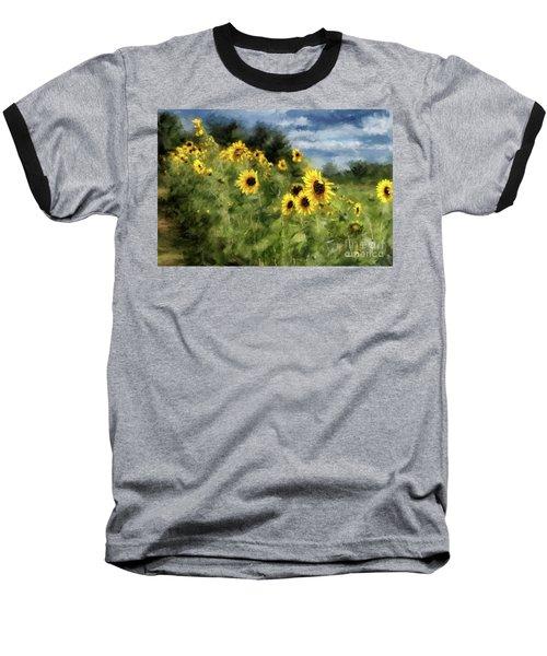 Sunflowers Bowing And Waving Baseball T-Shirt