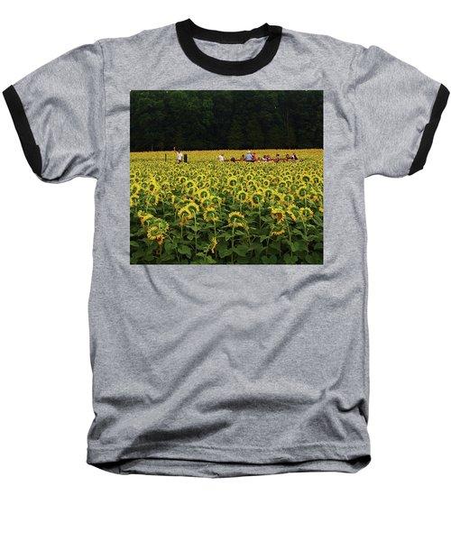 Sunflowers Everywhere Baseball T-Shirt