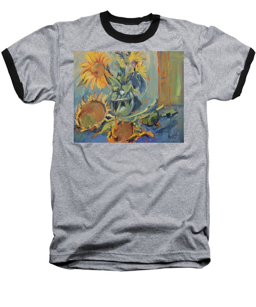 Sunflowers Fresh And Dried With Vase Baseball T-Shirt