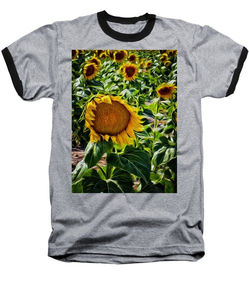 Sunflowers Glaze Baseball T-Shirt
