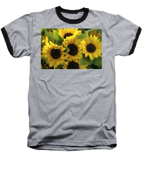 Sunflowers Baseball T-Shirt by Henri Irizarri