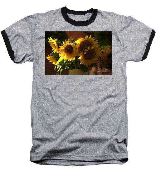 Sunflowers In A Vase Baseball T-Shirt