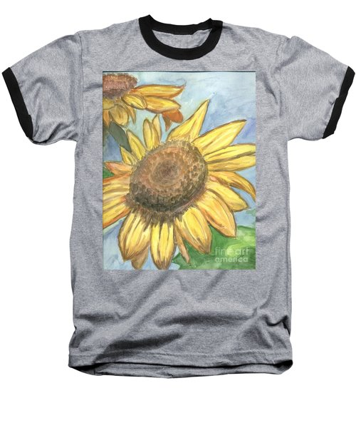Baseball T-Shirt featuring the painting Sunflowers by Jacqueline Athmann