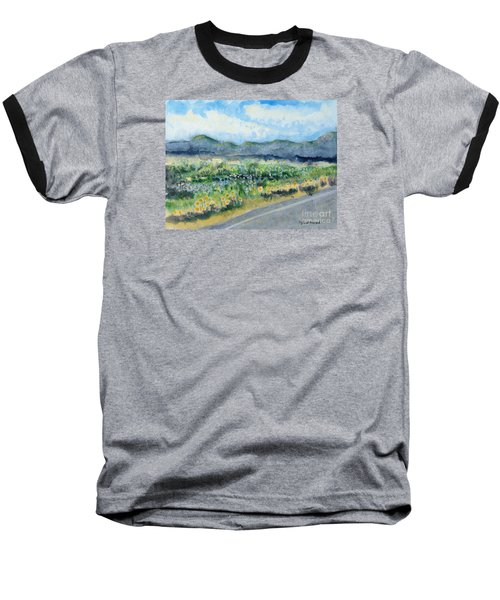 Sunflowers On The Way To The Great Sand Dunes Baseball T-Shirt