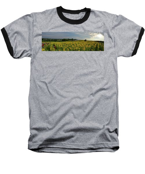 Sunflowers, People, And Pictures 2 Baseball T-Shirt by Janice Adomeit